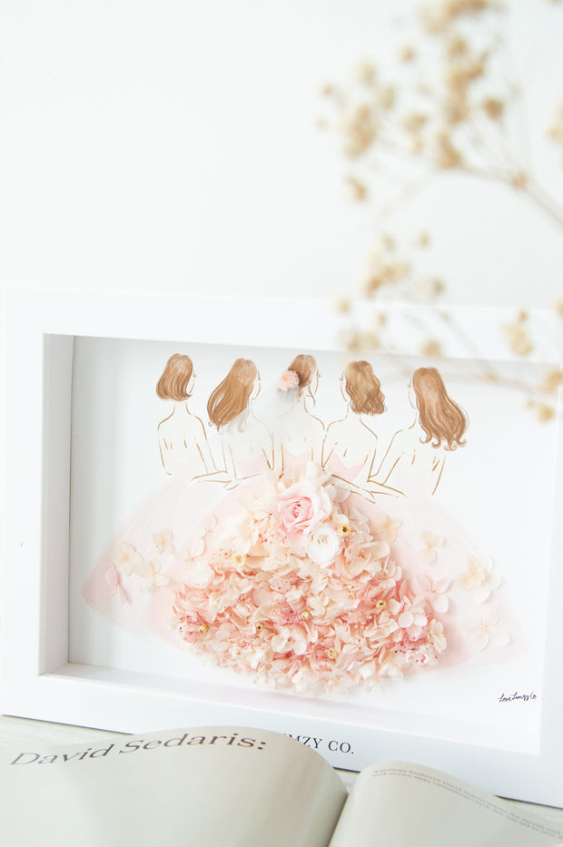 Artprint with Preserved Flowers-Sister March-Love Limzy Co.