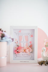 Artprint with Preserved Flowers-Window Flowers-Love Limzy Co.