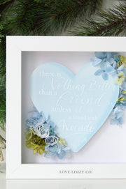 Artprint with Preserved Flowers-Words from My Heart-Dreamy Blue-Classic Square ( 25 x 25 cm )-Completed Piece-Love Limzy Co.