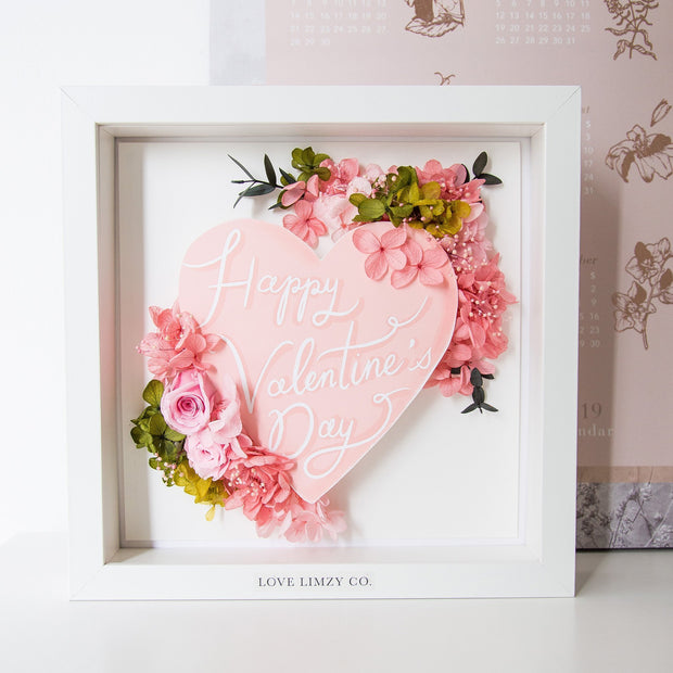 Artprint with Preserved Flowers-Words from My Heart-Love Limzy Co.