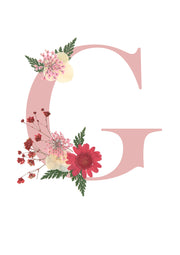 Artprint with Pressed Flower-Flower Alphabet Letter-Love Limzy Co.
