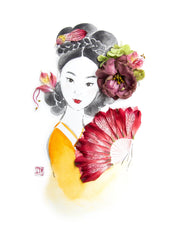Digital Artprint-Korean Lady-Love Limzy Co.