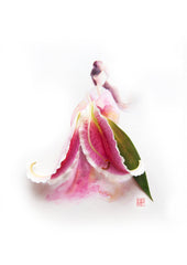 Digital Artprint-Oriental Lily-Love Limzy Co.