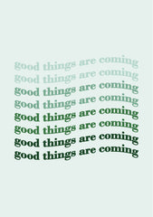 Greeting Card-Gradient Good Things Are Coming-Love Limzy Co.