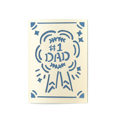 Greeting Card-No.1 Dad Card-Love Limzy Co.