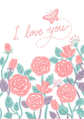 Greeting Card-Rosie Love-Love Limzy Co.