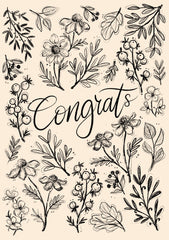 Greeting Card-Wildflower Congrats-Love Limzy Co.-Love Limzy Co.