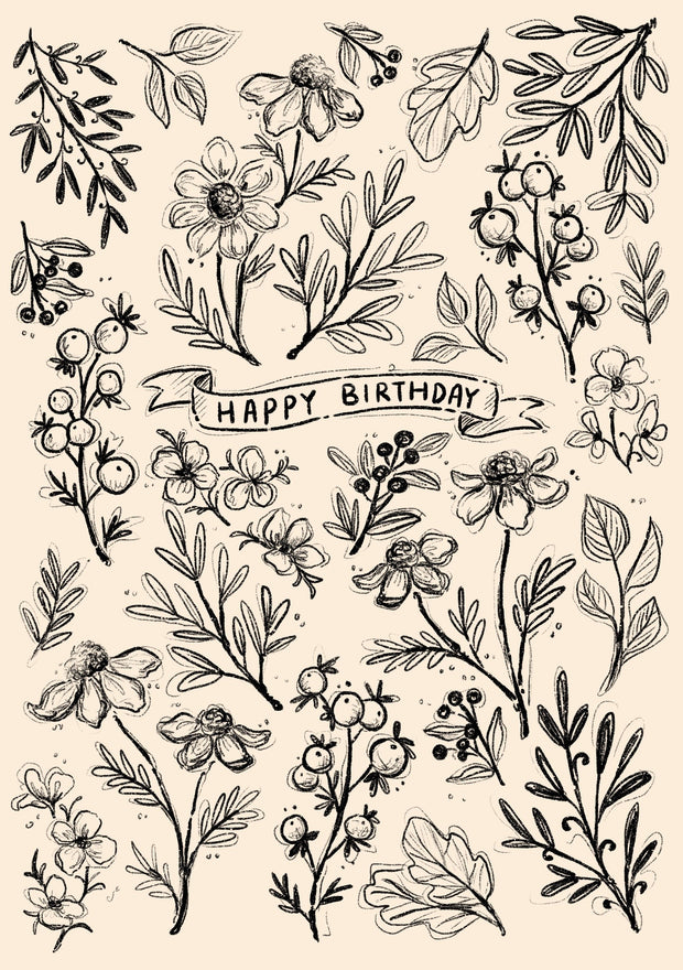 Greeting Card-Wildflower Happy Birthday-Love Limzy Co.