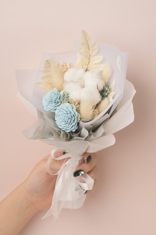 Preserved Dried Flower Bouquet-Endearing Sola - Sea Blue-Love Limzy Co.