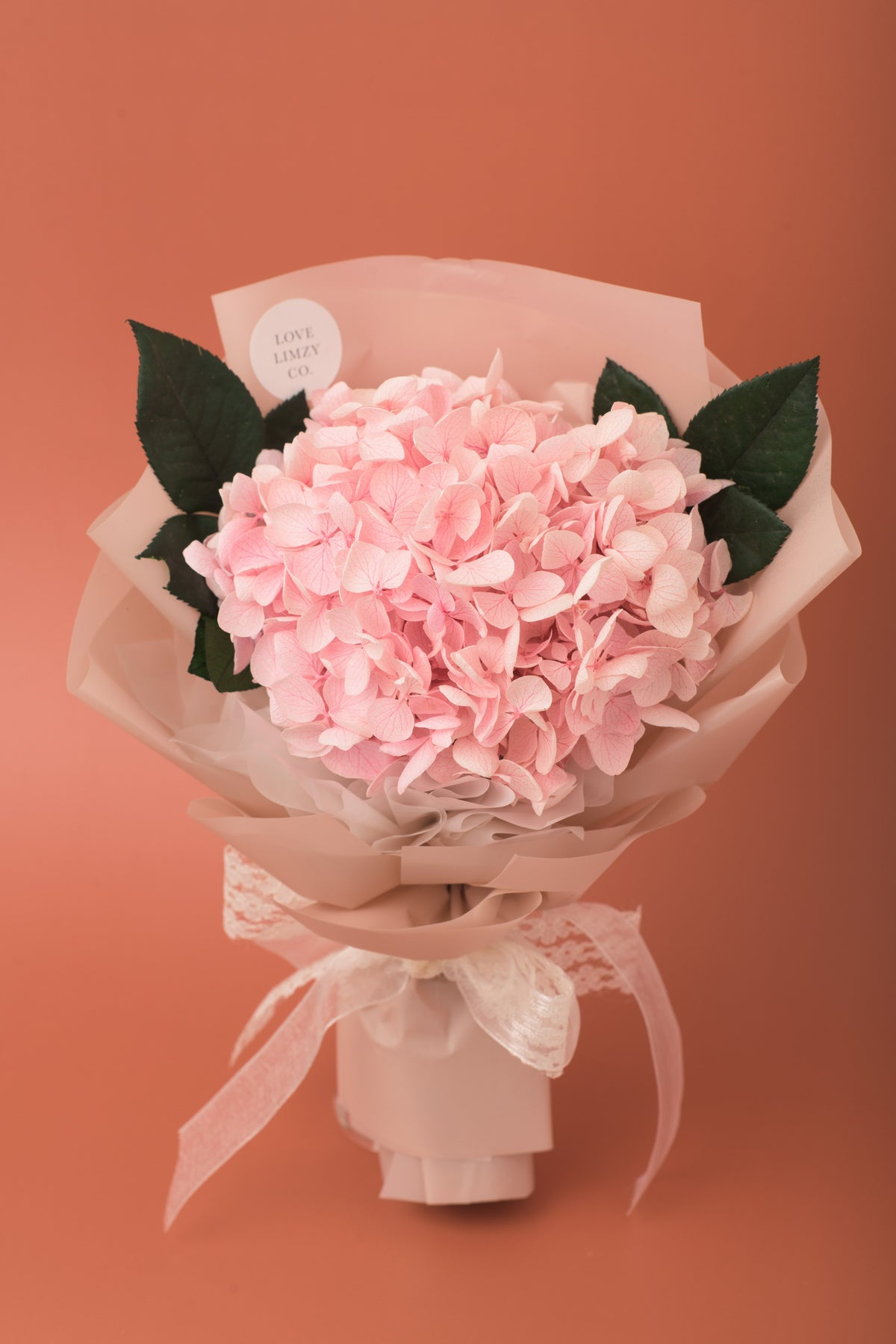 Preserved Hydrangea Bouquet Blush Pink Love Limzy Co