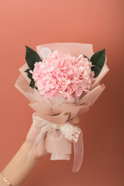 Preserved Dried Flower Bouquet-Hydrangea - Blush Pink-Love Limzy Co.