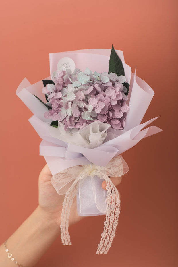 Preserved Dried Flower Bouquet-Hydrangea - Dusty Lavender-Love Limzy Co.