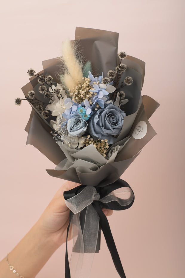 Preserved Dried Flower Bouquet-Misty Blue Bouquet-Love Limzy Co.