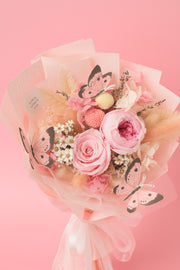 Preserved Dried Flower Bouquet-Pink Butterfly Garden-Love Limzy Co.-Love Limzy Co.