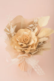 Preserved Dried Flower Bouquet-Vintage Sola Rose - Cream-Love Limzy Co.