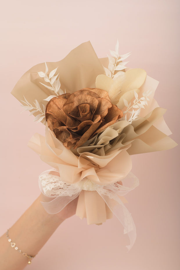 Preserved Dried Flower Bouquet-Vintage Sola Rose - Oakwood-Love Limzy Co.