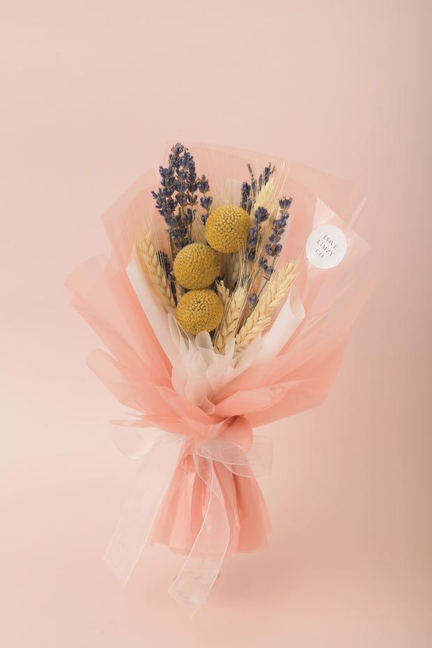 Preserved Dried Flower Bouquet-Wildflower Meadow - Pink-Love Limzy Co.