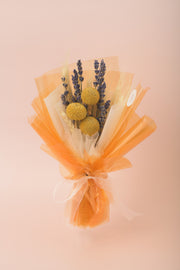 Preserved Dried Flower Bouquet-Wildflower Meadow - Tangerine-Love Limzy Co.