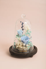 Preserved Flower Bell Jar-Cerulean Floral-Love Limzy Co.-Love Limzy Co.