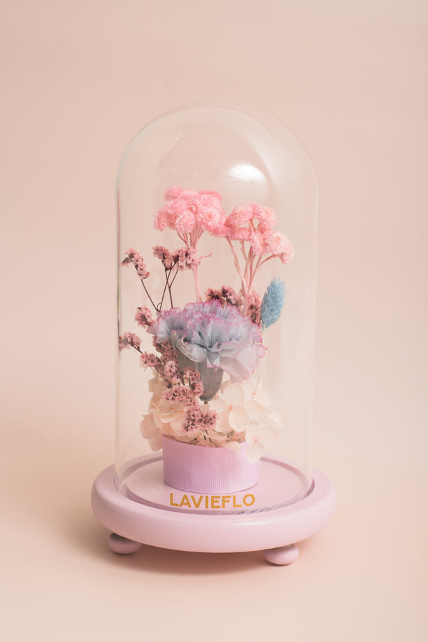 Preserved Flower Bell Jar-Iris Floral-Love Limzy Co.