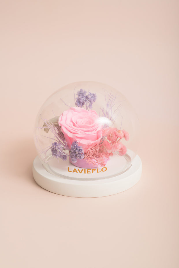 Preserved Flower Bell Jar-Linnea Floral-Love Limzy Co.
