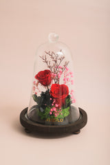 Preserved Flower Bell Jar-Scarlet Floral-Love Limzy Co.