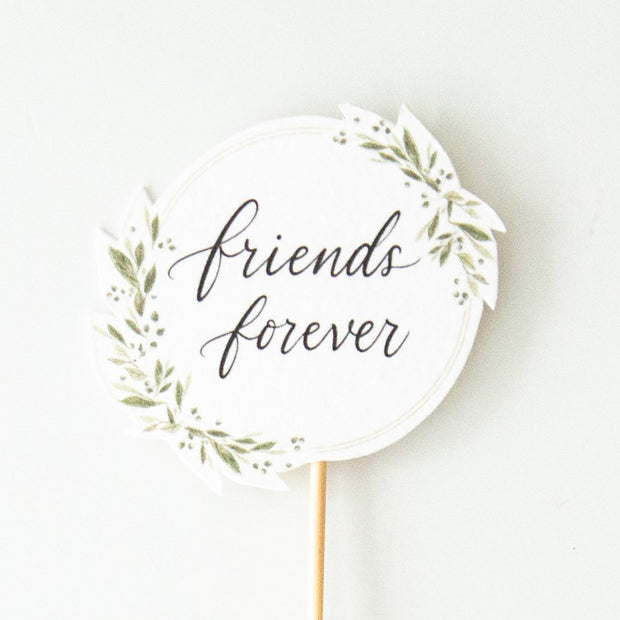 Topper-Leaf Wreath Friends Forever-Love Limzy Co.