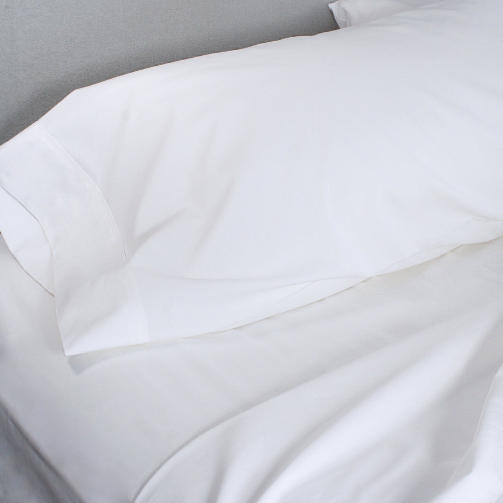 300 Thread Count Organic Cotton Brushed Percale Sheet Set