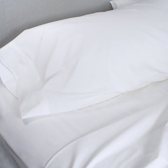 300 Thread Count Organic Cotton Brushed Percale Sheet Set (Solid)