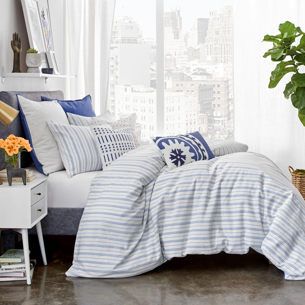 striped shopbedding blue ink com sutton ivy set comforter