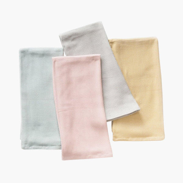 Herringbone Organic Cotton Baby Blanket