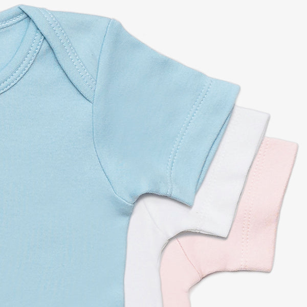 Organic Solid Short-Sleeve Onesie