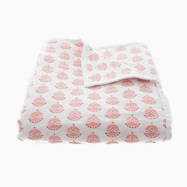 Organic Cotton Muslin Mia Play Blanket