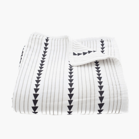 Organic Cotton Muslin Midnight Play Blanket