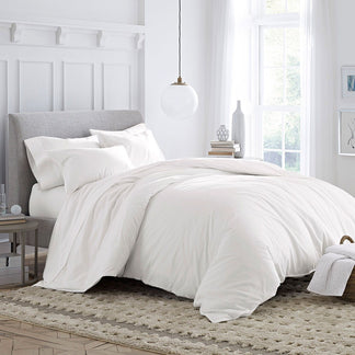 Organic Cotton Brushed Percale Duvet Cover Set