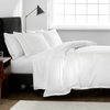 Hotel Border Organic Duvet Cover Set