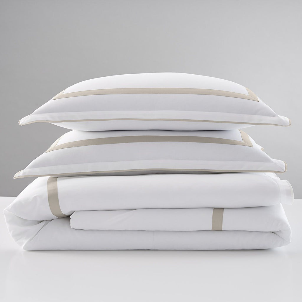 300 Thread Count Organic Hotel Border Duvet Cover Set