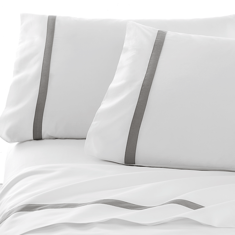 300 Thread Count Organic Hotel Border Sheet Set