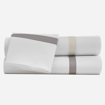 Hotel Border Organic Pillowcase Set