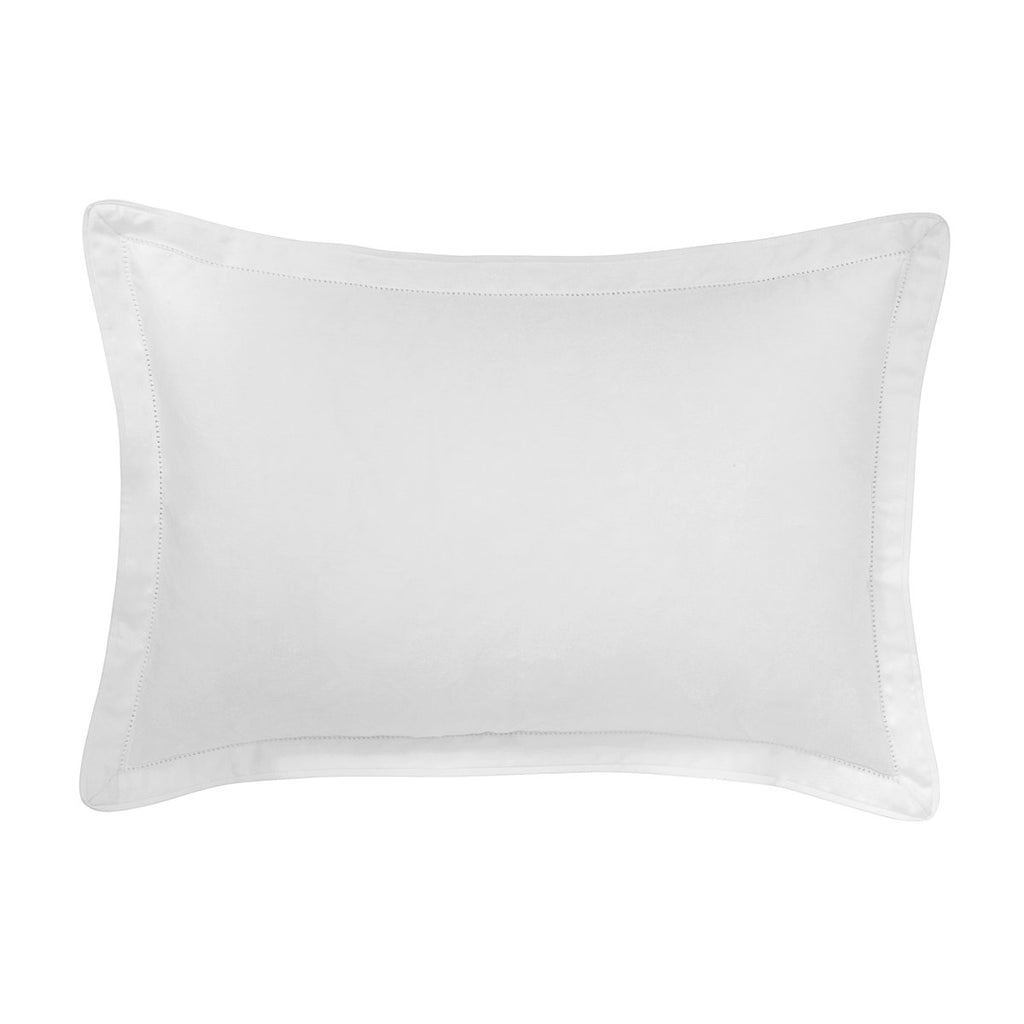 Italian Hemstitch Organic Decorative Pillow