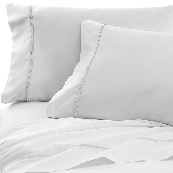 300 Thread Count Organic Italian Hemstitch Sheet Set