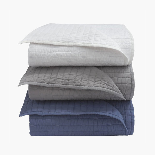 Organic Cotton Stitched Quilt & Sham Set