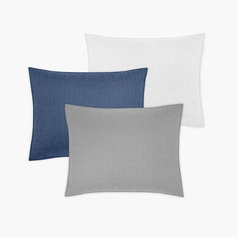 Organic Cotton Stitched Pillow Sham