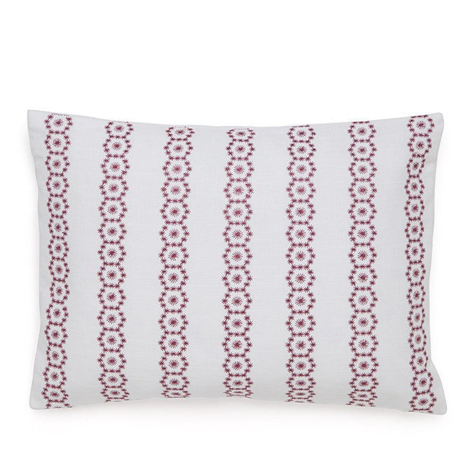 Embroidered Medallion Decorative Pillow