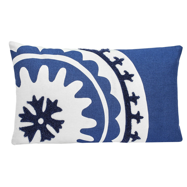 Amalfi Stripe Suzani Decorative Pillow