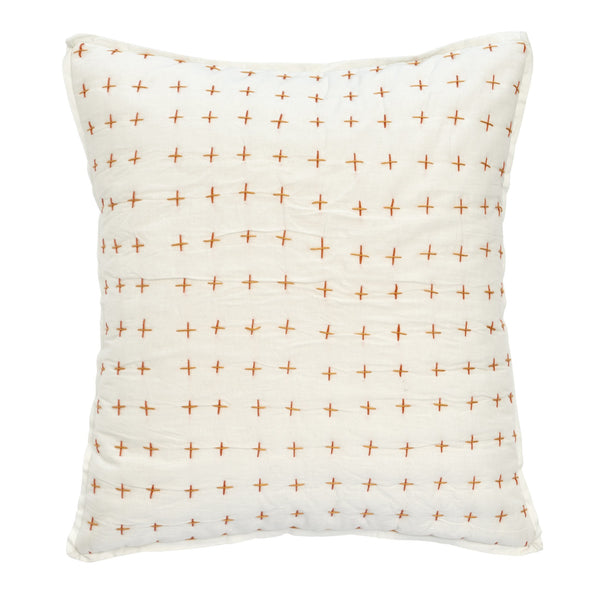 Amalfi Stripe Cross Stitch Decorative Pillow