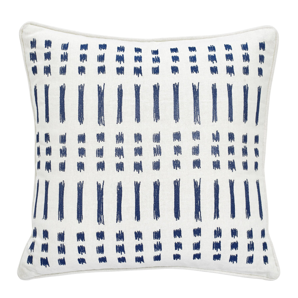 Amalfi Stripe Embroidered Ikat Decorative Pillow
