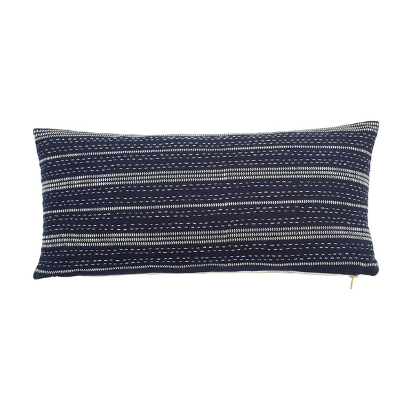 Shibori Chic Embroidered Breakfast Pillow