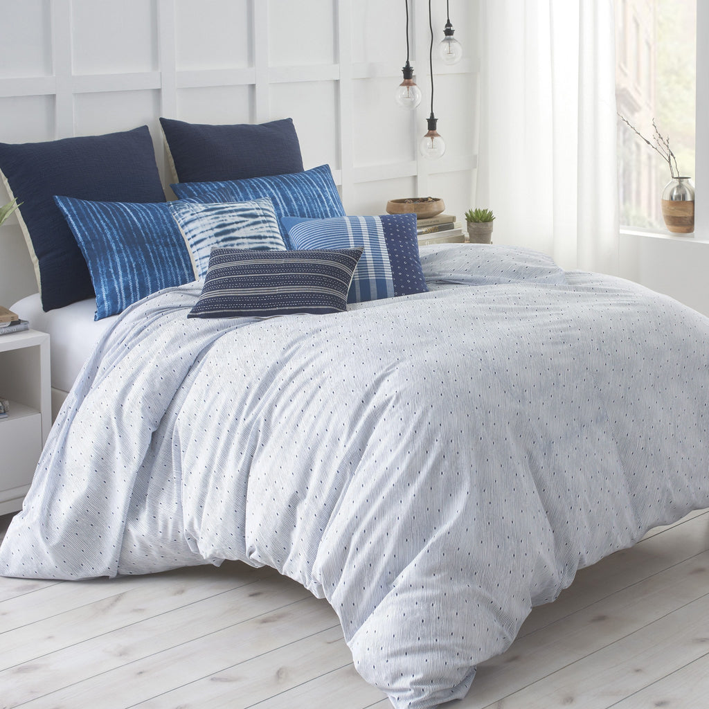 Twin Shibori Chic Duvet Cover Set