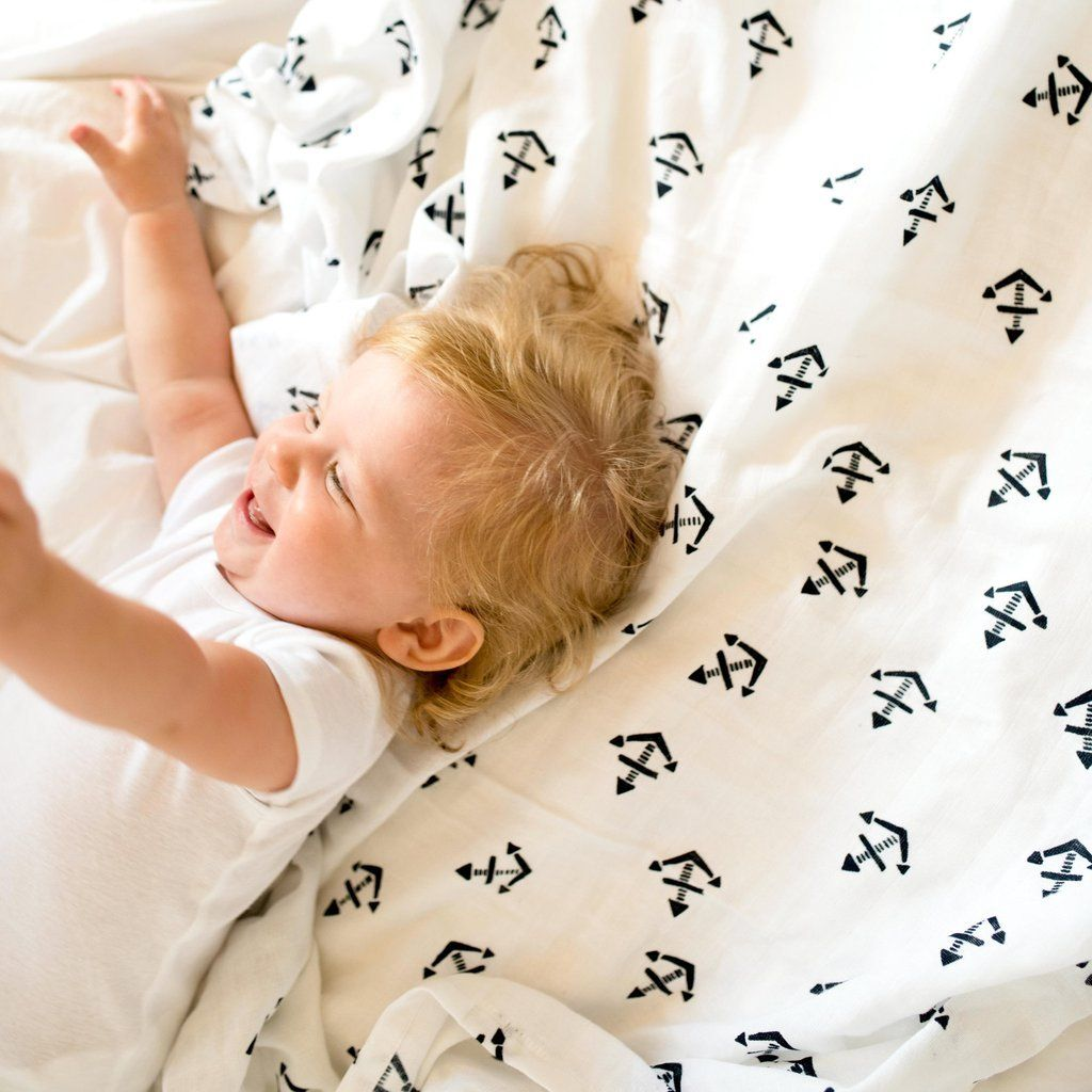 Organic Cotton Muslin Anchor Swaddle Blanket